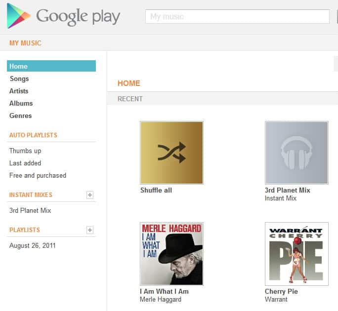 how to upload my music to google play