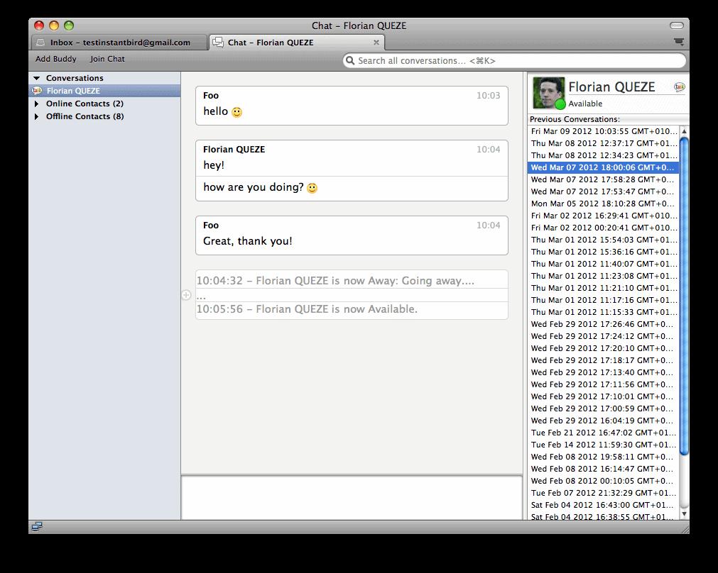 Instant Message Link : Thunderbird gets instant messaging capabilities ghacks