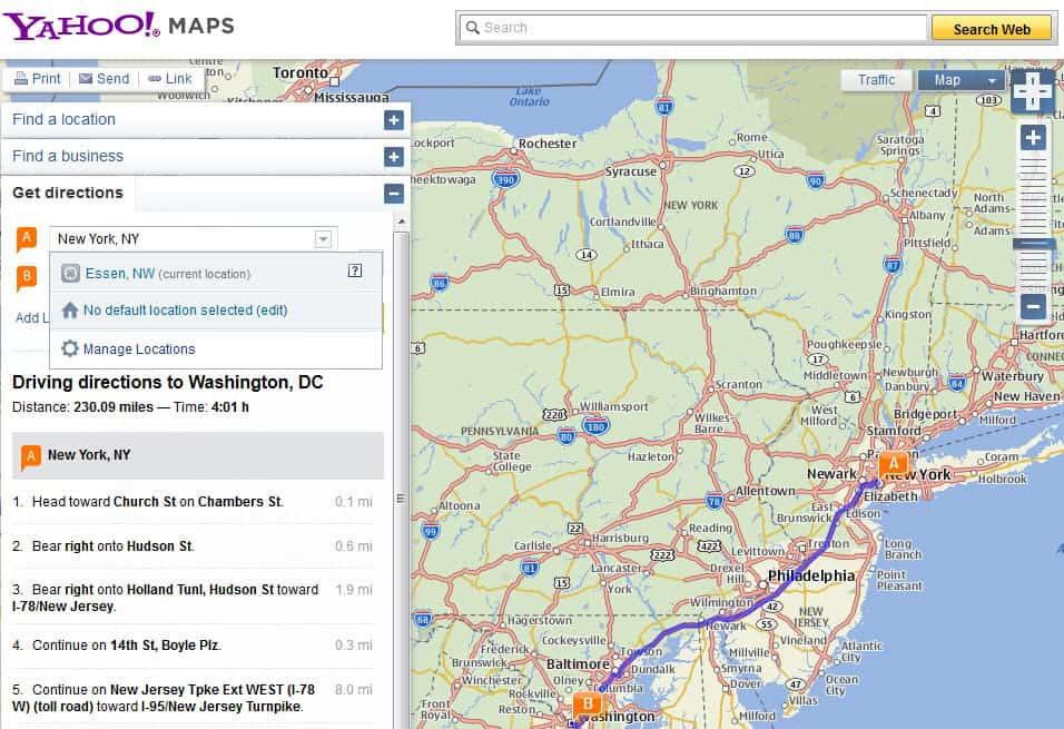 A Comparison of Popular Maps and Driving Directions Sites ...