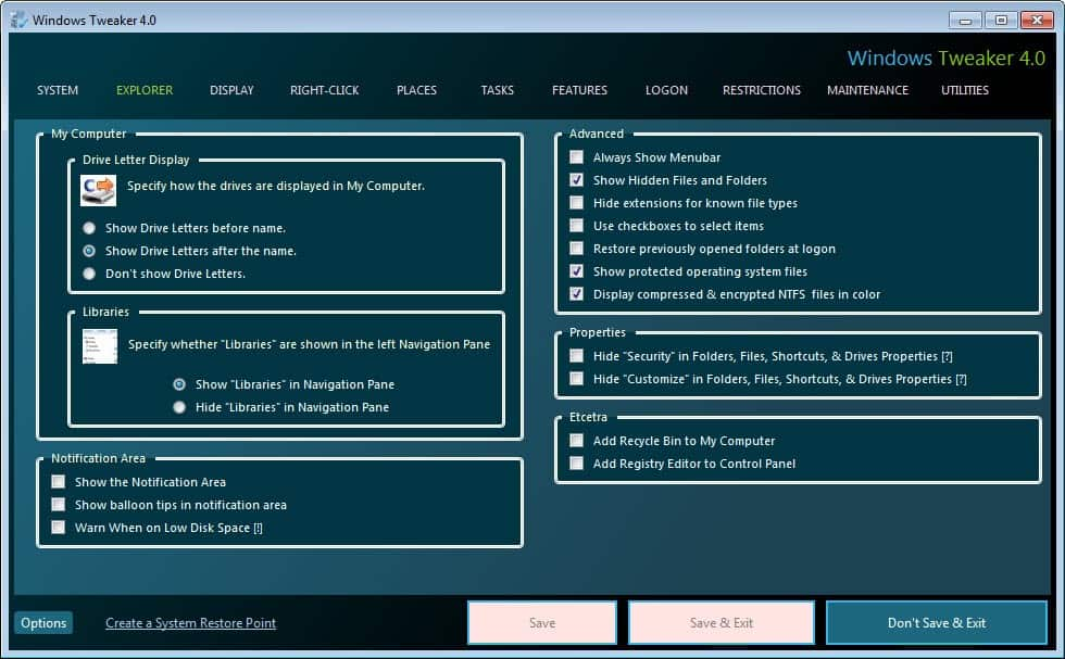 ultimate windows tweaker xp download