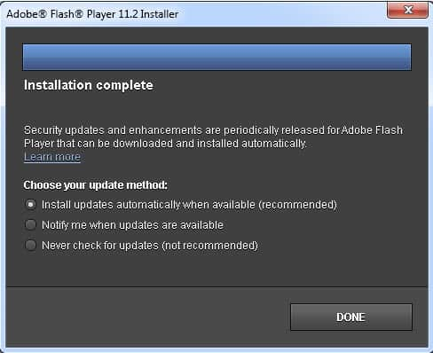 adobe flash plug in update