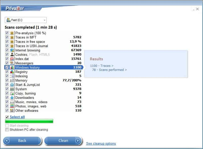PrivaZer 2.1 очистити комп'ютер від слідів конфіденційної інформації