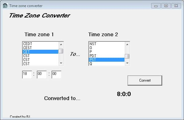 Time Zone Converter converts Time Zones for you - gHacks Tech News
