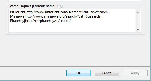 Add a search engine - Chat - µTorrent Community Forums