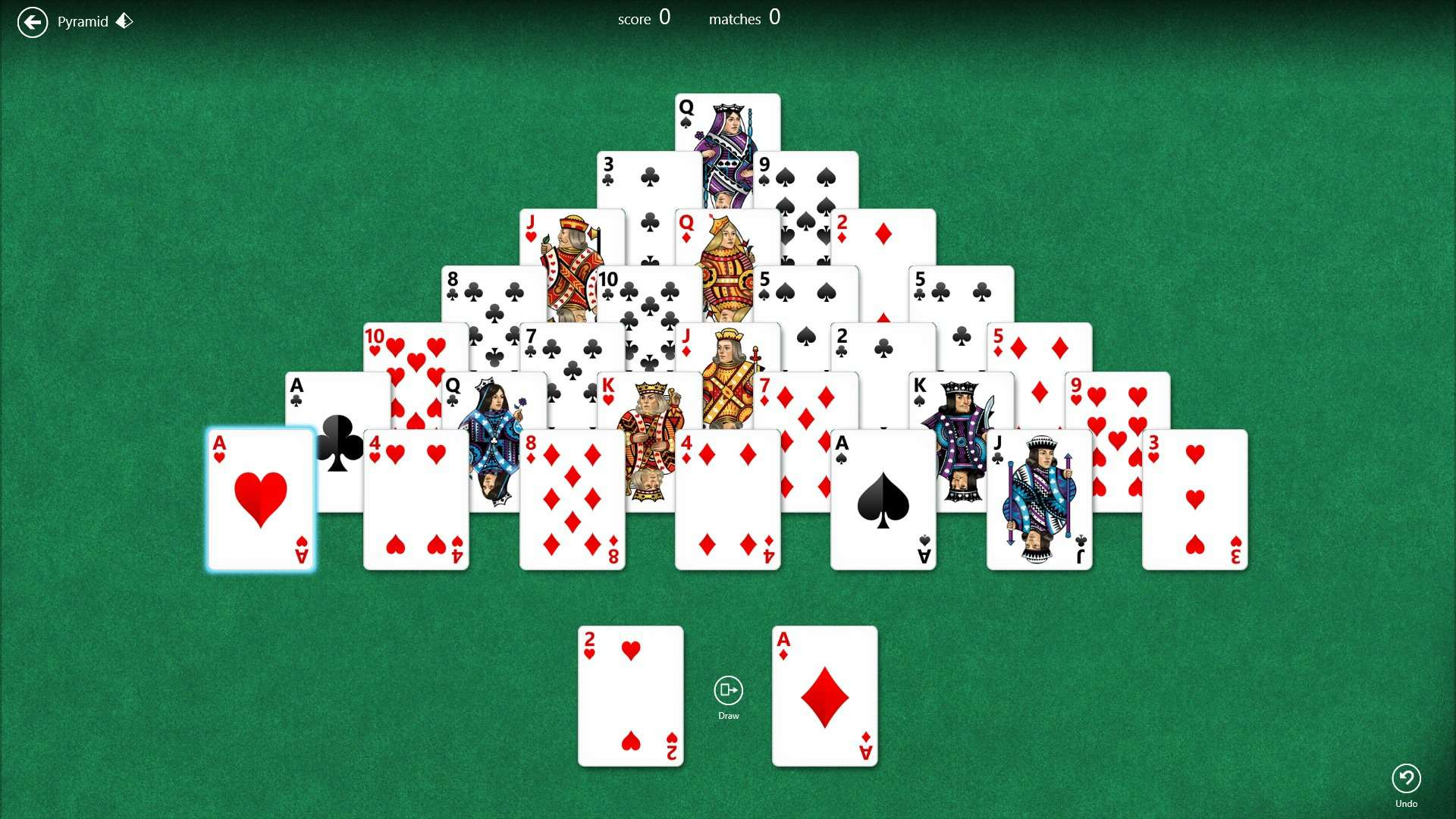 solitaire games pyramid
