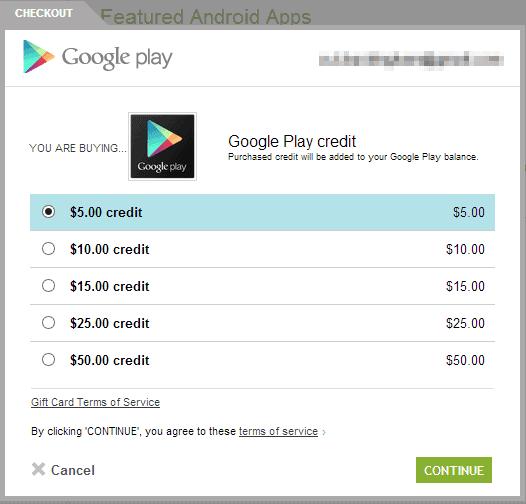 Free Google Play Codes List