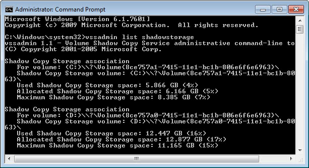 how to make a shadow copy of a hard drive