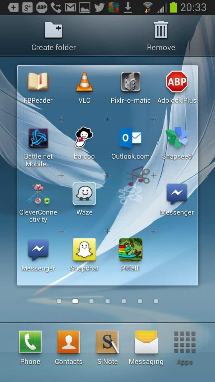 how to remove apps from the android homescreen ghacks tech news. Black Bedroom Furniture Sets. Home Design Ideas