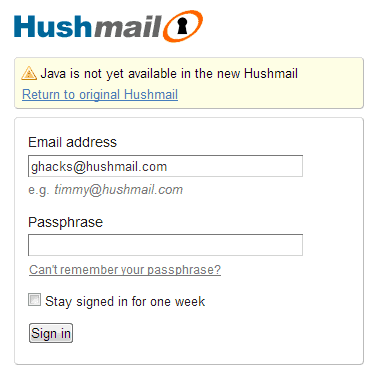 Mar 05, · I created a Hushmail account this afternoon and like how they encourage users to create strong passwords. They do this by getting users to type in a passphrase that is likely to be a sentence with a nice mix of characters than a regular password where users tend to use weaker dictionary based words and numbers.