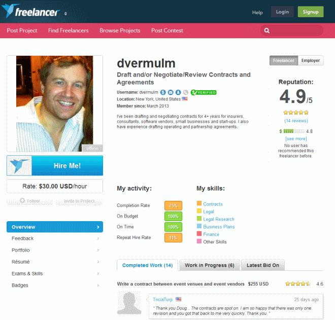 freelancer profiles