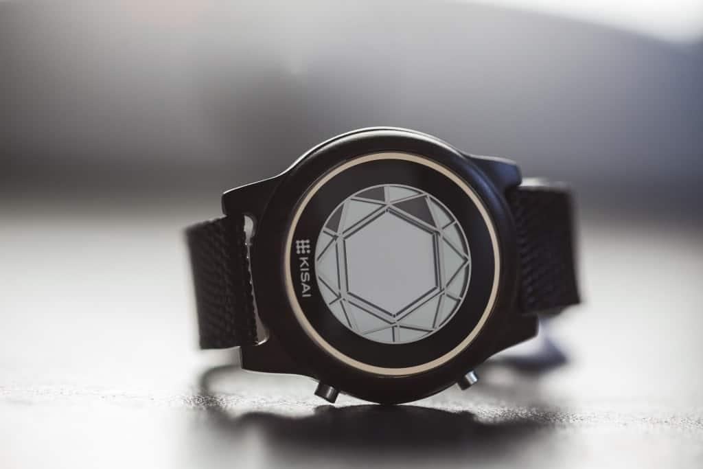 polygon wood lcd watch