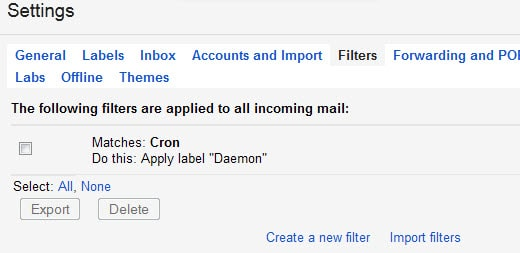 create filter gmail