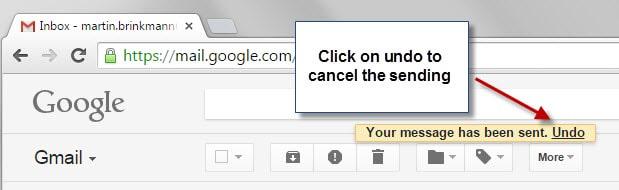 cancel send gmail