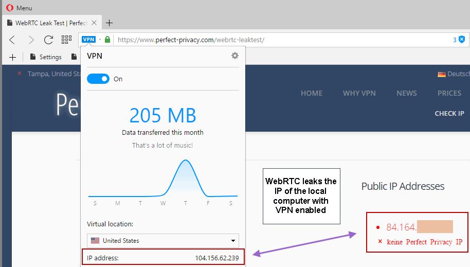 opera webrtc leak