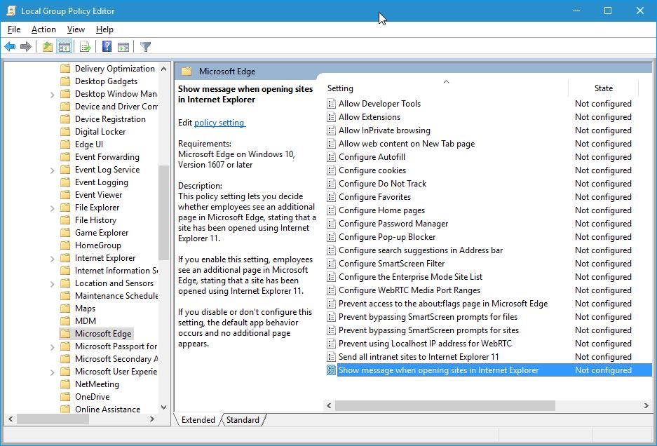 microsoft edge group policy