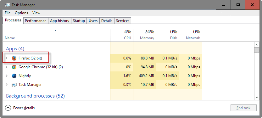 firefox task manager