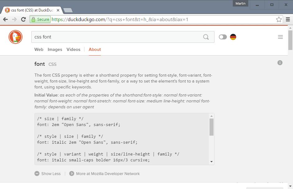 duckduckgo programming