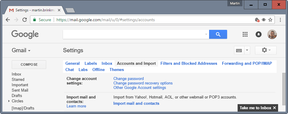 yahoo import gmail