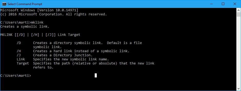 Windows 10 Creators Update: Symlinks without elevation