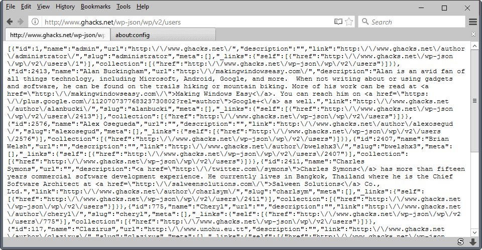firefox json data