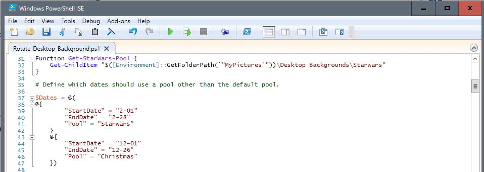 wallpaper-dates Lightweight Powershell Windows Desktop Background Rotator script