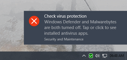 check virus protection