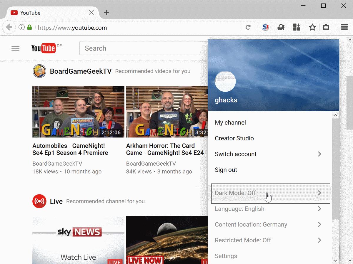 youtube-dark-mode-enable Google working on dark mode for YouTube
