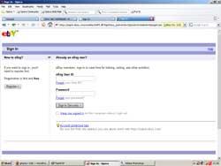 ebay fake website phishing