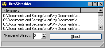 ultra shredder safely delete files permanent