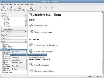 contacts sidebar thunderbird extension
