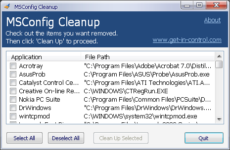 msconfig clean up the mess