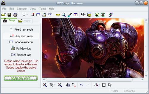 mwsnap free screen capturing software