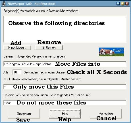filewarper move files automatically