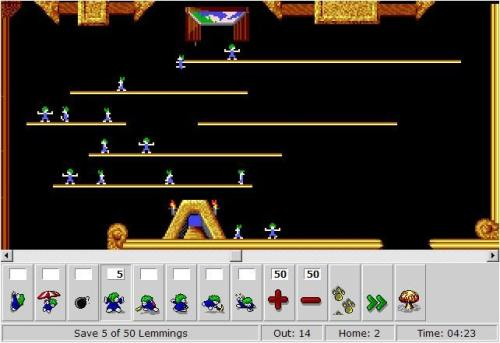 lemmings browser game