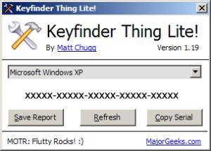 keyfinder serial numbers