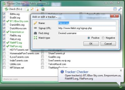 tracker checker