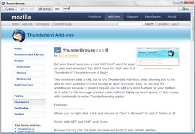 thunder browse