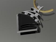 custom jewelry shield pendant