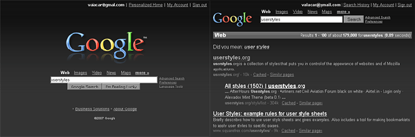 google web search redesign