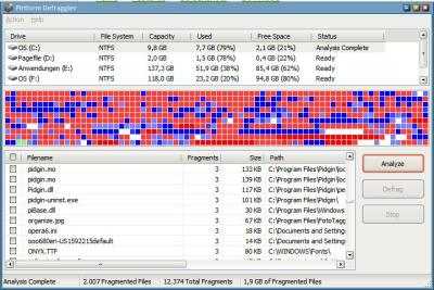 defraggler file defragmentation software
