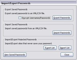 export passwords firefox