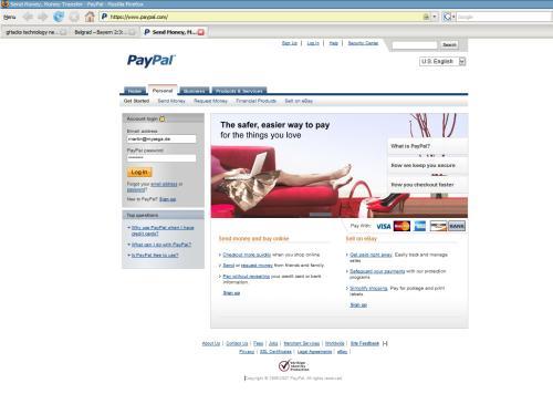 paypal original website