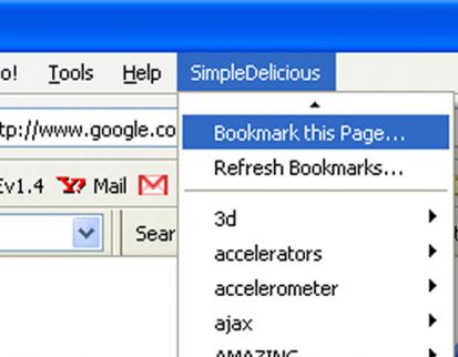 Add Delicious Bookmarks to Firefox