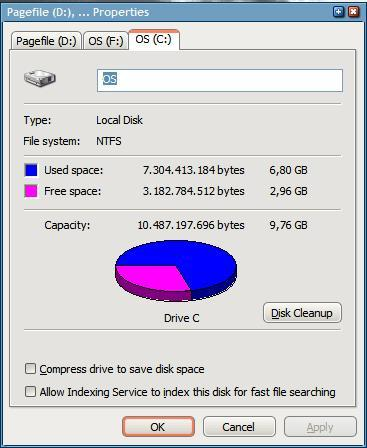 Display several hard drive properties at once