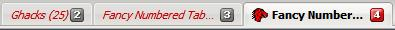 numbered tabs