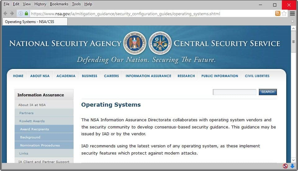 nsa operating system guides