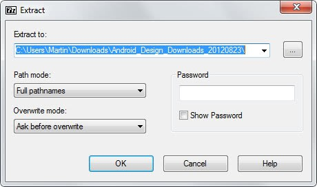 extract archives 7-zip
