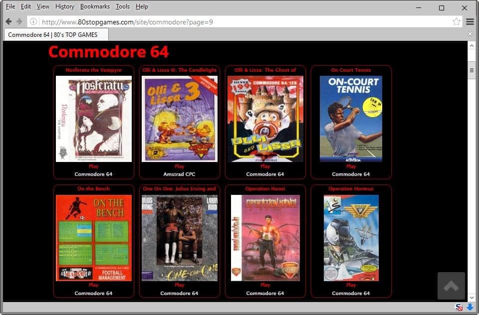 commodore c64 games