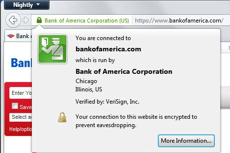 bank secure website