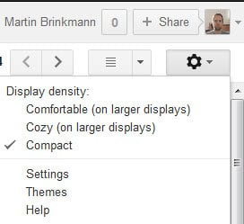 gmail compact view